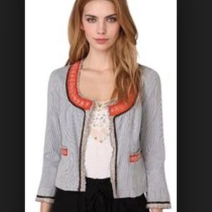 free people my fair lady striped beaded jacket 12